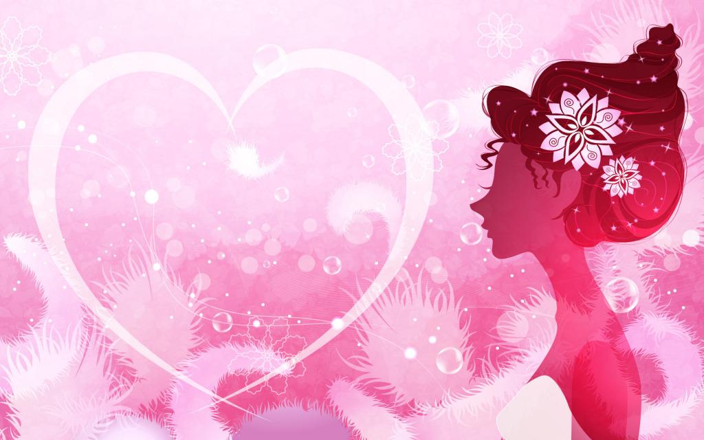ピンク女性